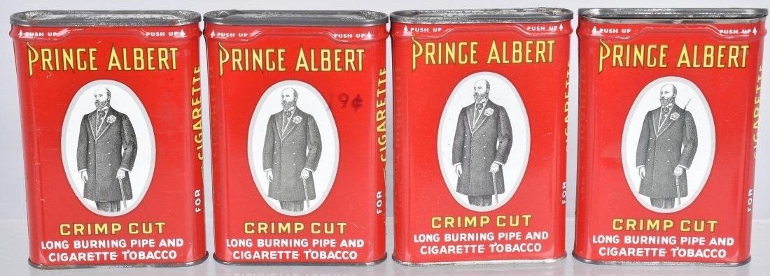 4- PRINCE ALBERT POCKET TOBACCO TINS
