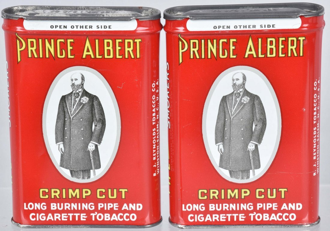 4- PRINCE ALBERT POCKET TOBACCO TINS - 2