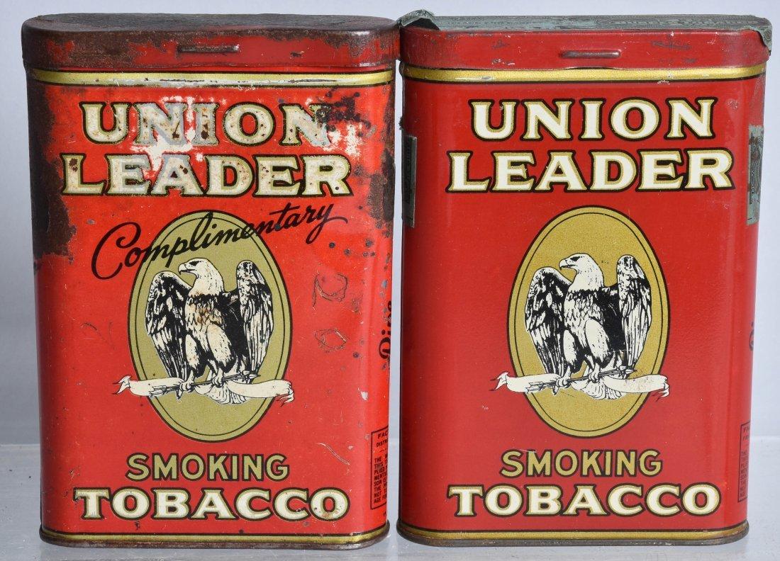 4- UNION LEADER POCKET TOBACCO TINS - 2
