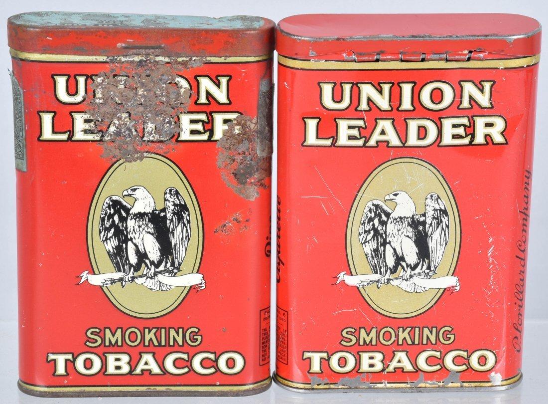 4- UNION LEADER POCKET TOBACCO TINS - 3