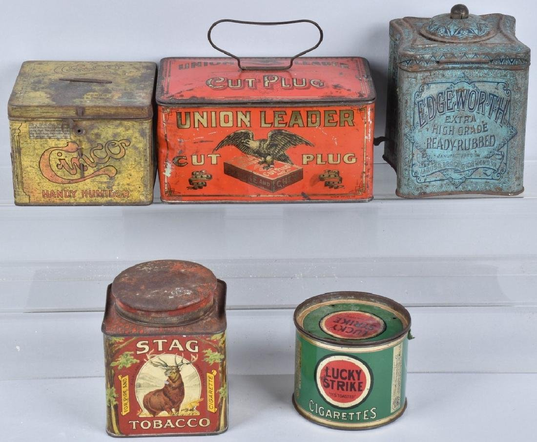 5- CIGAR & TOBACCO TINS