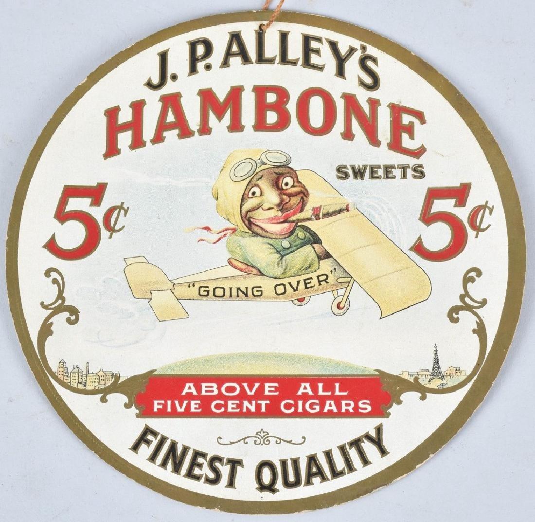 JP ALLYS HAMBONE & TWO HOMERS CIGAR FAN PULLS - 2