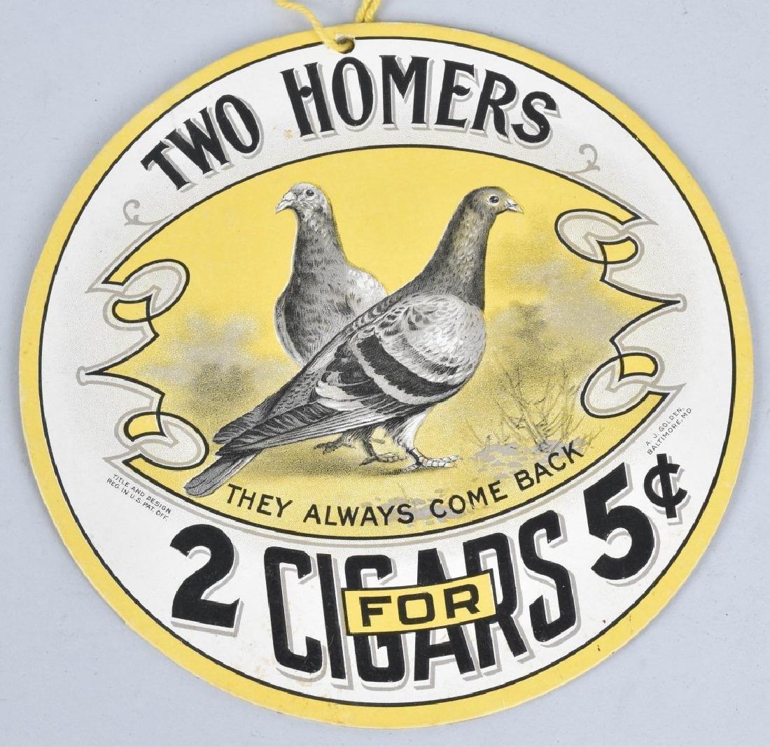 JP ALLYS HAMBONE & TWO HOMERS CIGAR FAN PULLS - 5