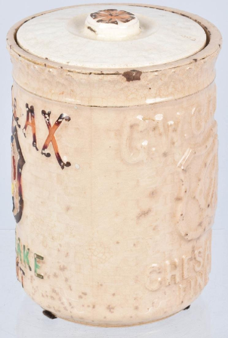 GW GAIL & AX CHESAPEAKE TOBACCO POTTERY JAR - 3