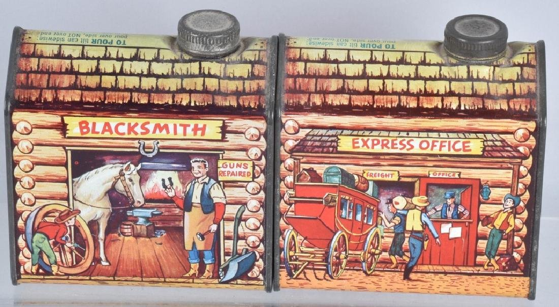4- TOWLE'S LOG CABIN SYRUP TINS - 3