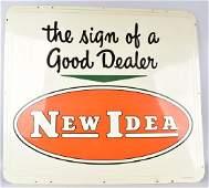 NEW IDEA FARM EQUIPMENT TIN SIGN New Old Stock
