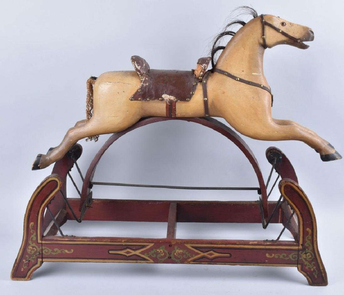 CONVERSE WOOD CARVED RIDE ON HORSE ON ROCKER