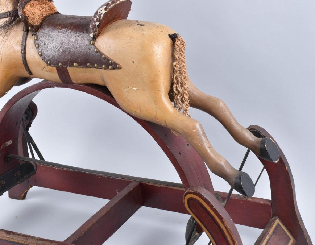 CONVERSE WOOD CARVED RIDE ON HORSE ON ROCKER - 2