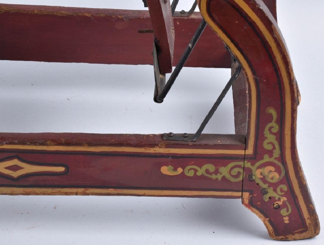CONVERSE WOOD CARVED RIDE ON HORSE ON ROCKER - 9