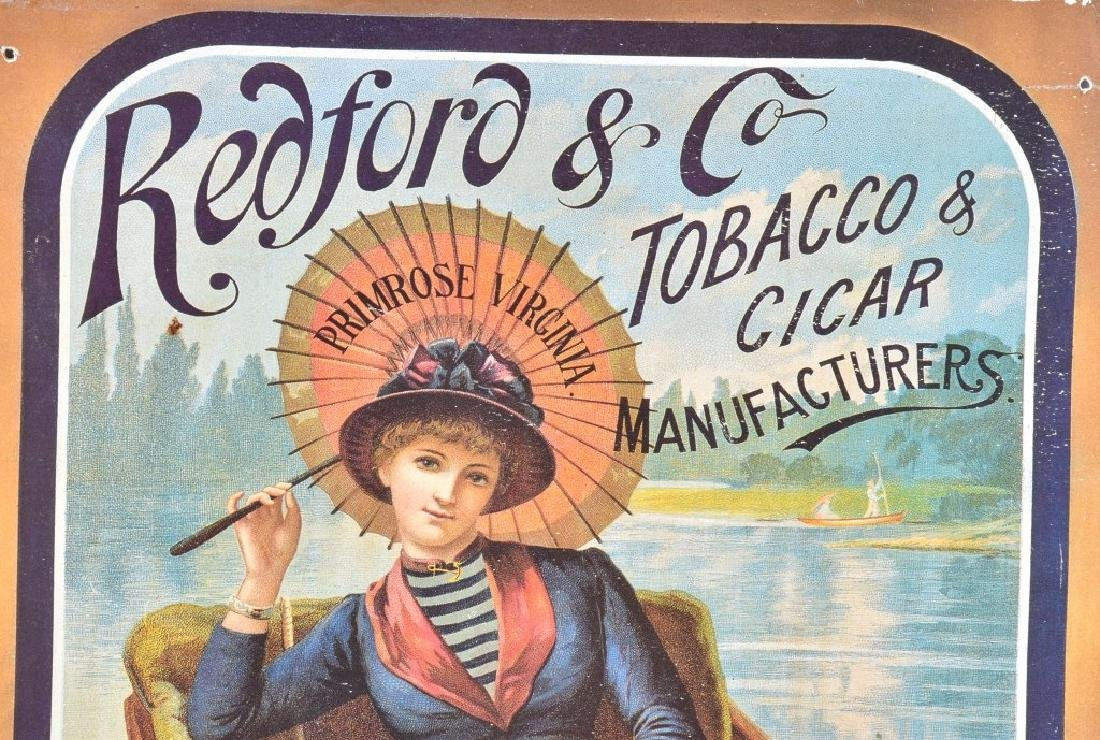 REDFORD & CO TOBACCO ADVERTISING POSTER ON WOOD - 2
