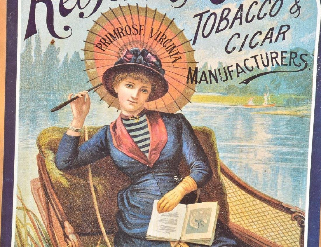 REDFORD & CO TOBACCO ADVERTISING POSTER ON WOOD - 3
