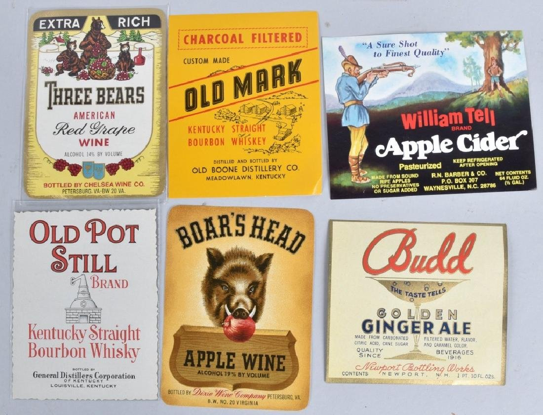 LARGE LOT of COLOR BEVERAGE LABELS, VINTAGE - 2