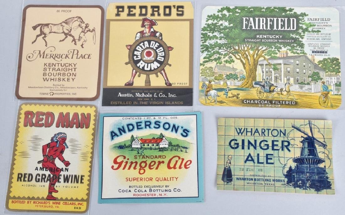 LARGE LOT of COLOR BEVERAGE LABELS, VINTAGE - 4