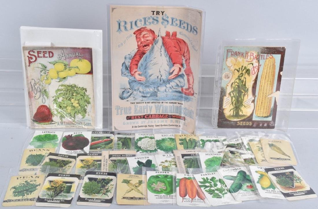 LOT of COLOR SEED ADVERTISING, PACKETS and MORE