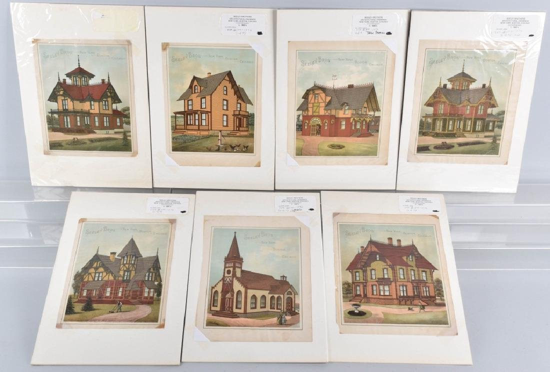 7-1880'S SEELEY BROS. ARCHITECTURAL PRINTS