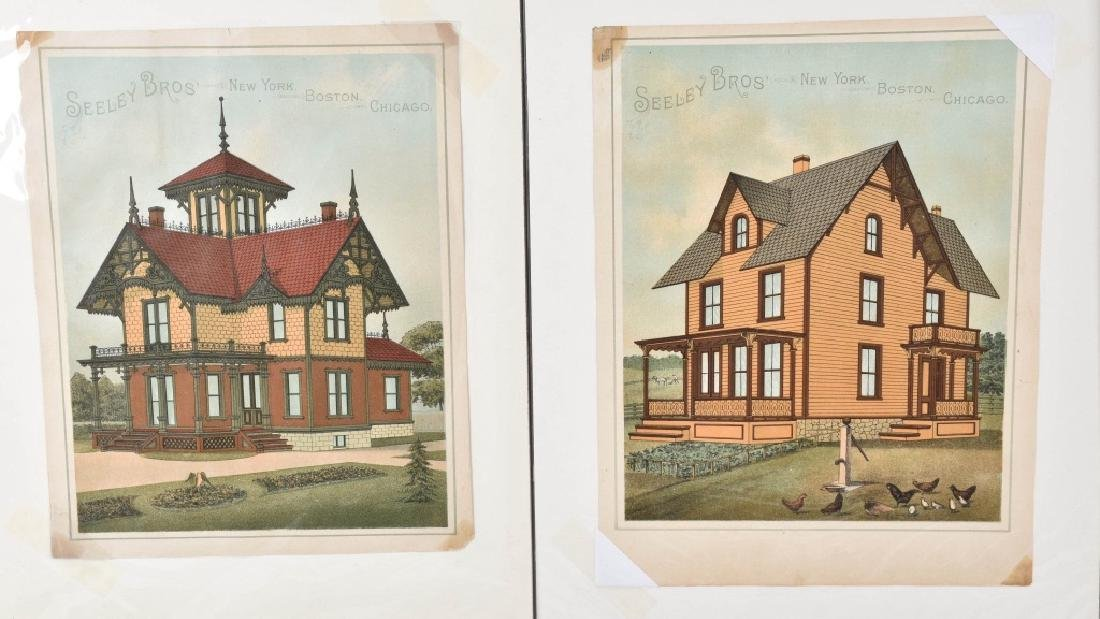 7-1880'S SEELEY BROS. ARCHITECTURAL PRINTS - 2