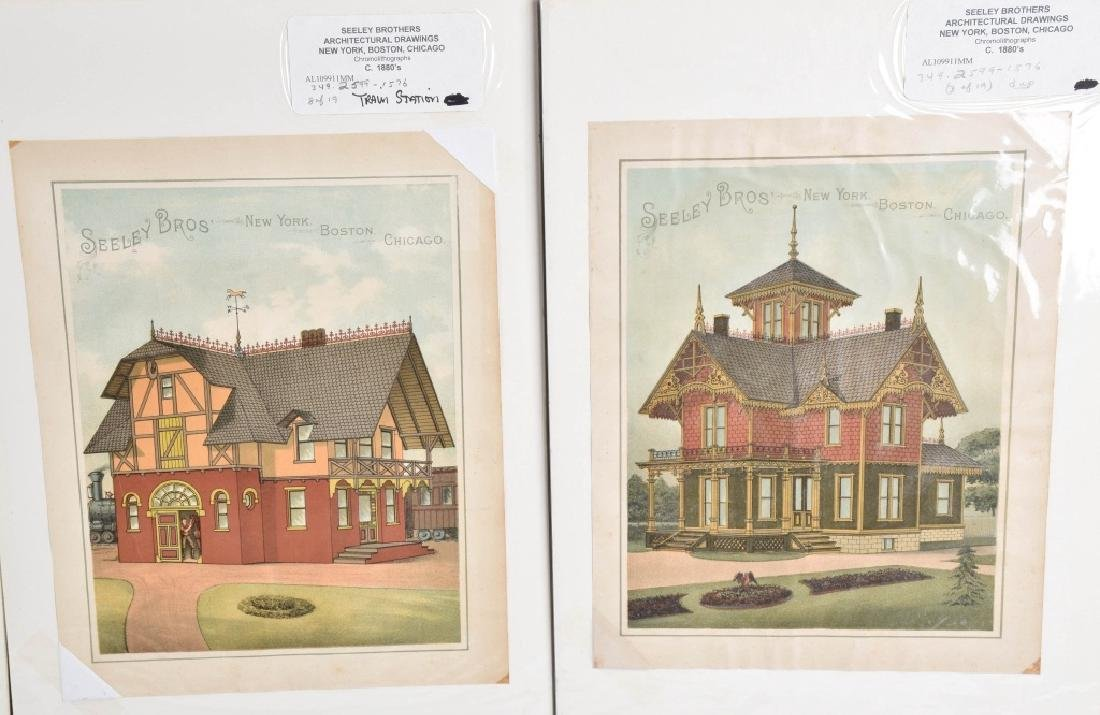 7-1880'S SEELEY BROS. ARCHITECTURAL PRINTS - 3