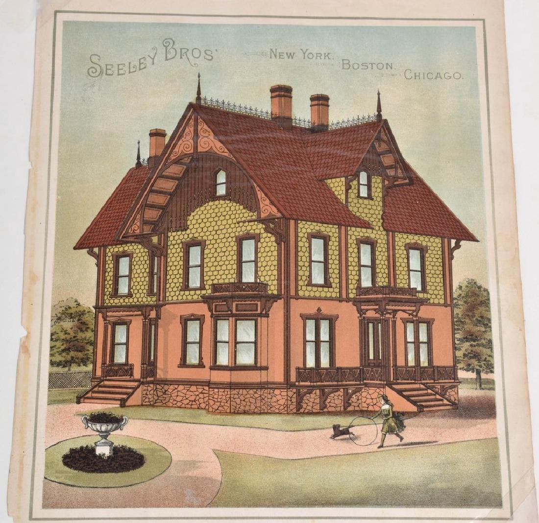 7-1880'S SEELEY BROS. ARCHITECTURAL PRINTS - 4
