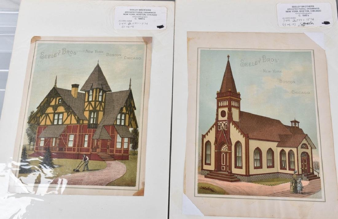 7-1880'S SEELEY BROS. ARCHITECTURAL PRINTS - 5