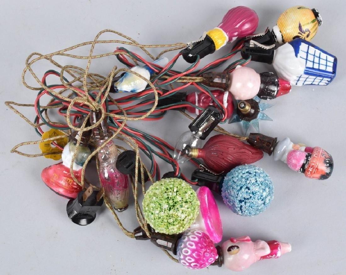 VINTAGE CHRISTMAS LIGHTS, FIGURALS and MORE
