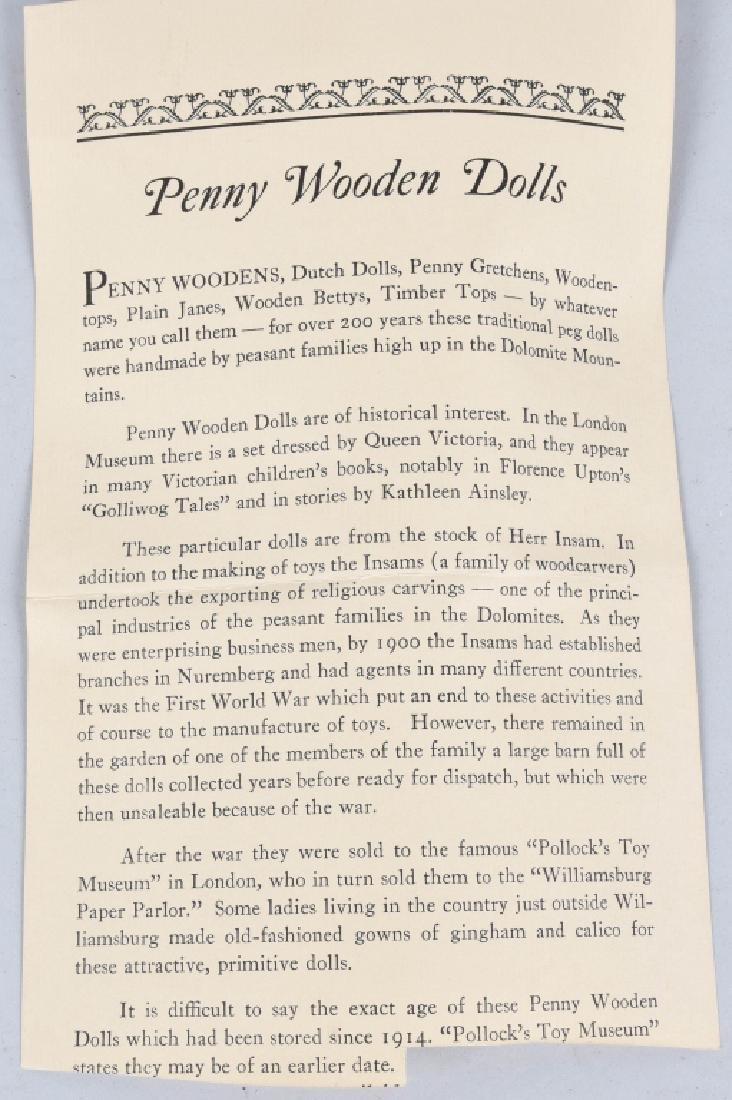 2-PENNY WOODEN DOLLS, VINTAGE - 6