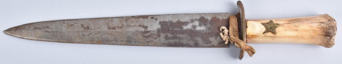LARGE BONE GRIP SIDE KNIFE