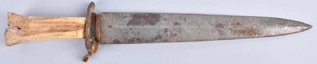 LARGE BONE GRIP SIDE KNIFE - 2