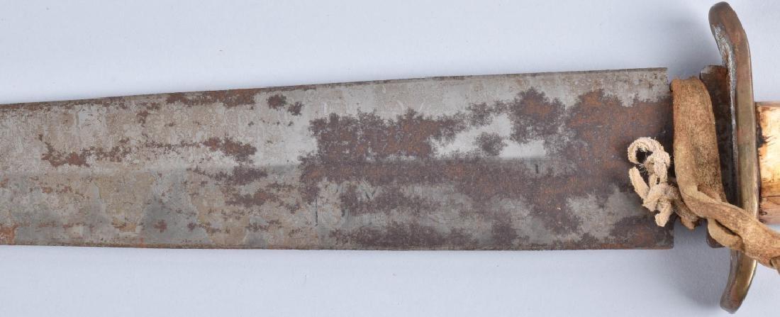 LARGE BONE GRIP SIDE KNIFE - 4