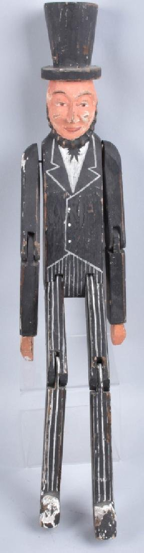 LARGE FOLK ART ABRAHAM LINCOLN CARVED WOOD FIGURE