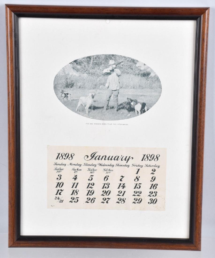 1893 SALESMAN SAMPLE HUNTING CALENDAR