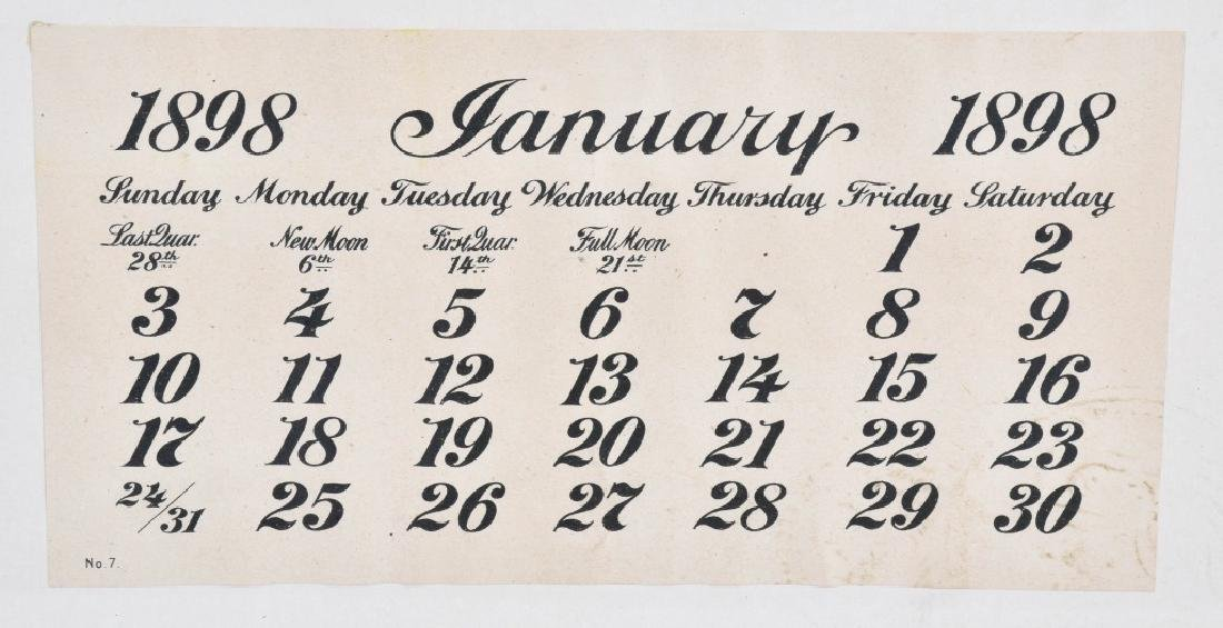 1893 SALESMAN SAMPLE HUNTING CALENDAR - 3
