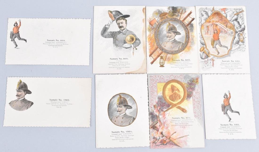 8-1890'S SALESMAN SAMPLE FIREMAN GIFT CARDS