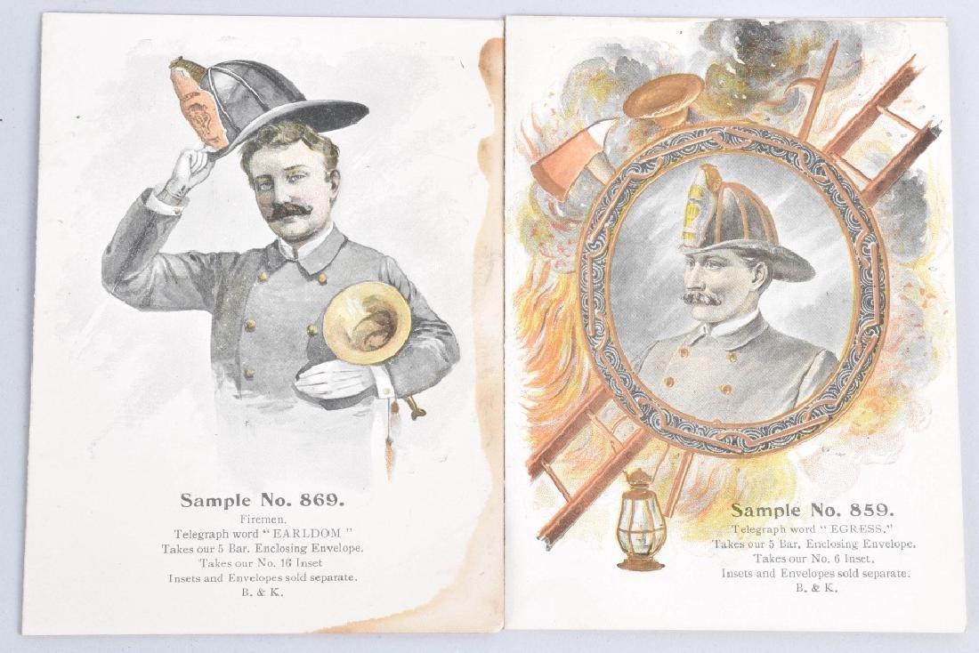 8-1890'S SALESMAN SAMPLE FIREMAN GIFT CARDS - 3