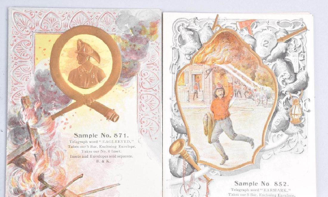 8-1890'S SALESMAN SAMPLE FIREMAN GIFT CARDS - 4