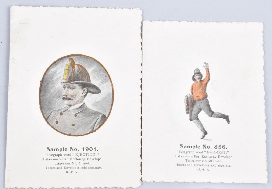8-1890'S SALESMAN SAMPLE FIREMAN GIFT CARDS - 5