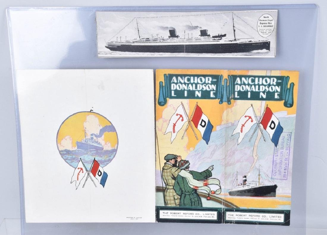 VINTAGE SHIP BROCHURES WHITE STAR LINE & MORE - 4