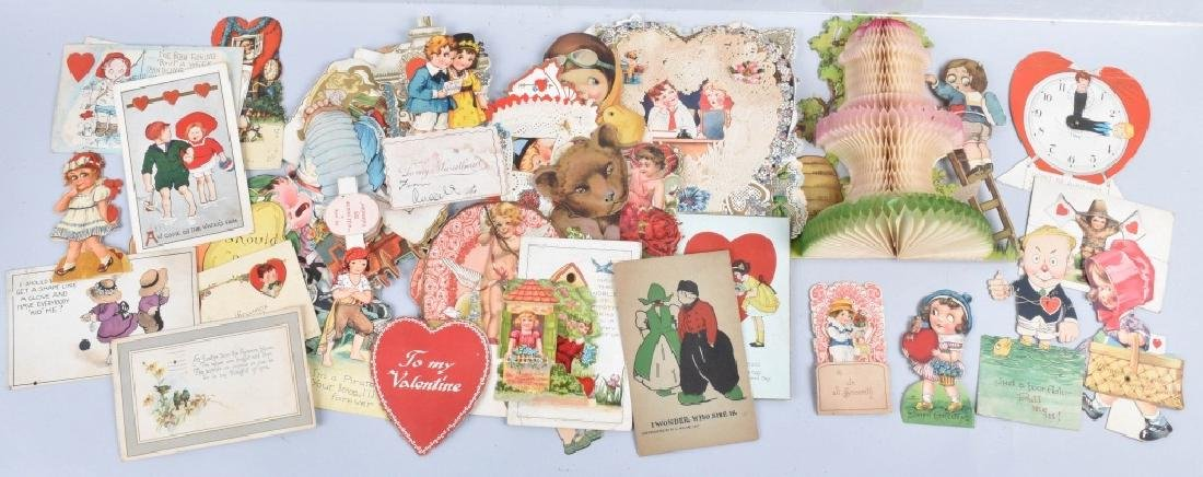Large lot of VICTORIAN VALENTINES