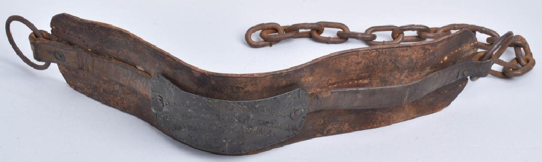 1857 FRANKLIN SUMMERS & COMBS SLAVE COLLAR