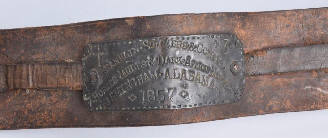 1857 FRANKLIN SUMMERS & COMBS SLAVE COLLAR - 2