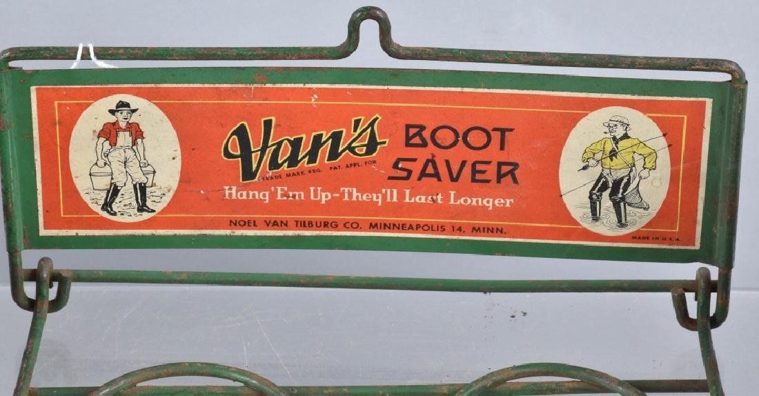 early VANS BOOT SAVER RACK w/ RUBBER BOOTS - 2