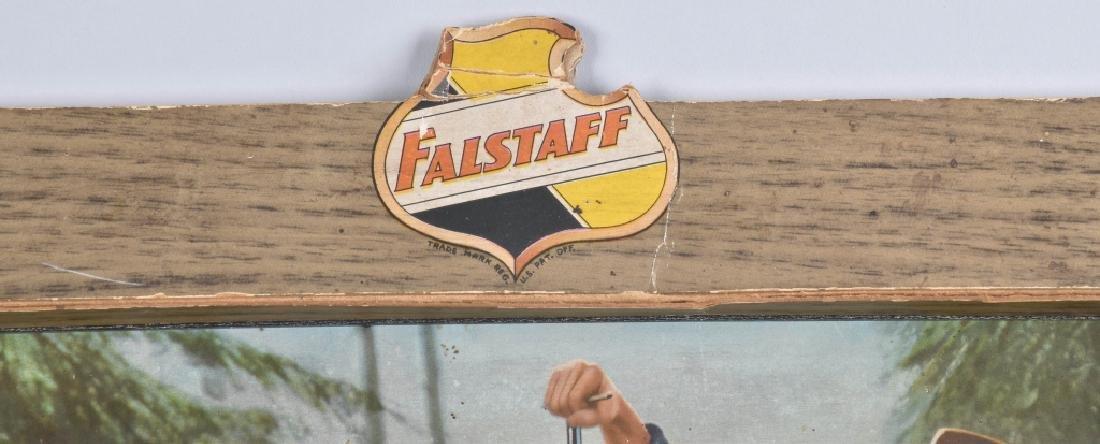 FALSTAFF BEER SELF FRAMED ADVERTISING SIGN - 2