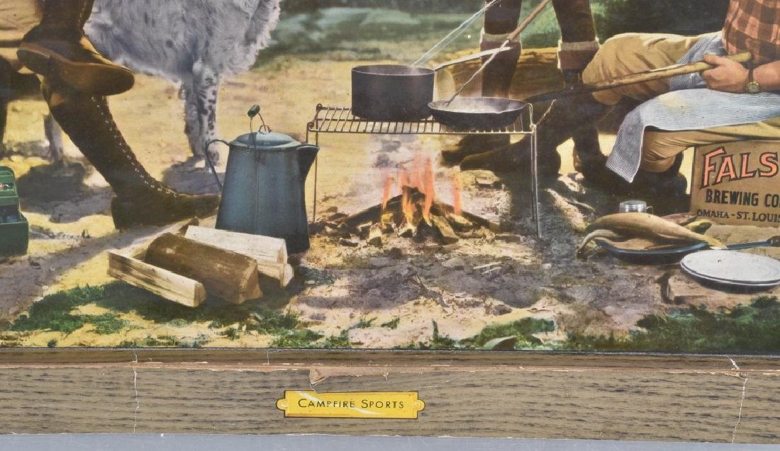 FALSTAFF BEER SELF FRAMED ADVERTISING SIGN - 5