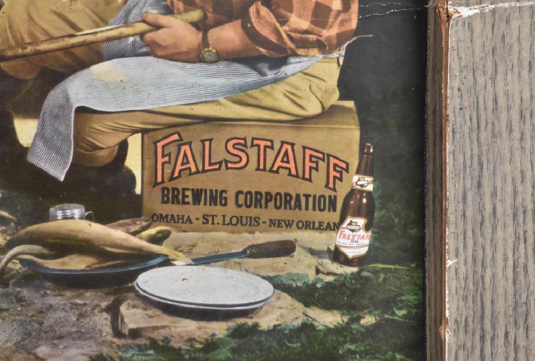 FALSTAFF BEER SELF FRAMED ADVERTISING SIGN - 6