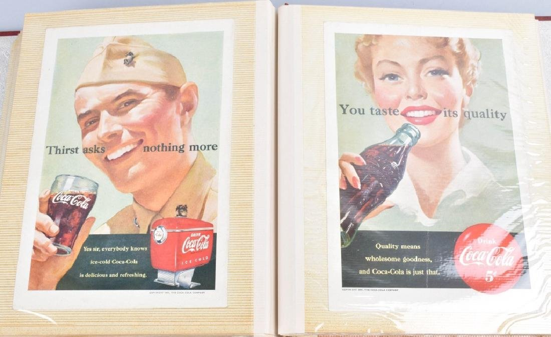 LARGE LOT of COCA COLA ADVERTISING & NATURE CARDS - 10