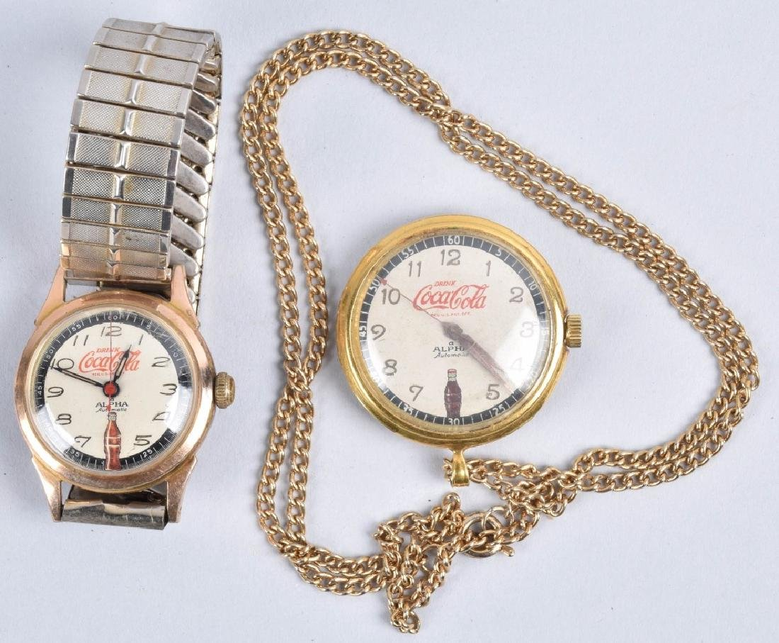 2- COCA COLA ALPHA AUTOMATIC WATCHES
