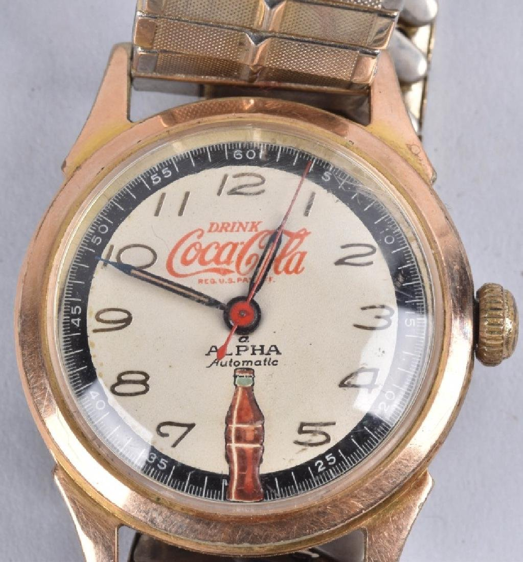 2- COCA COLA ALPHA AUTOMATIC WATCHES - 2