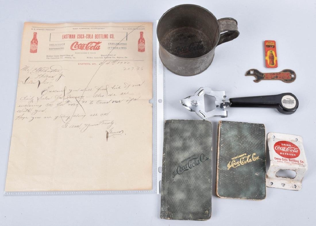 VINTAGE COCA COLA LOT, OPENERS, WHISTLE, & MORE
