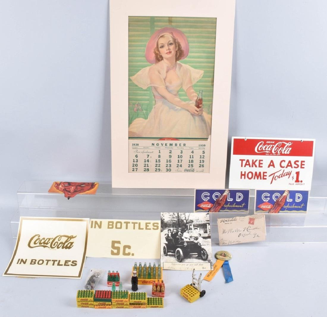 VINTAGE COCA COLA ADVERTISING LOT