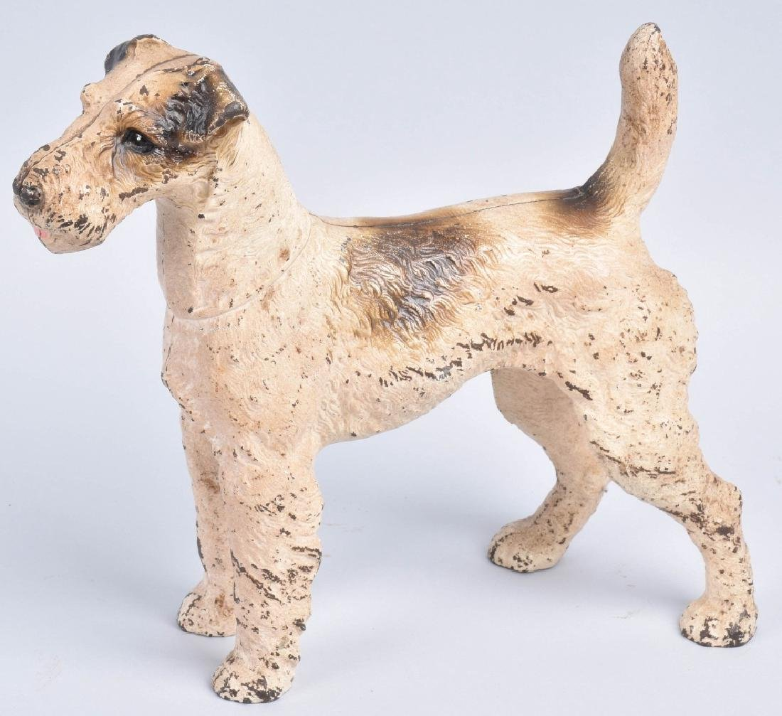TERRIER DOG, LARGE CAST IRON DOORSTOP