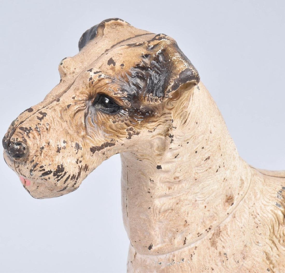 TERRIER DOG, LARGE CAST IRON DOORSTOP - 2